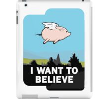 The X-Files: I Want to Believe Poster Flying Pig Spoof iPad Case/Skin