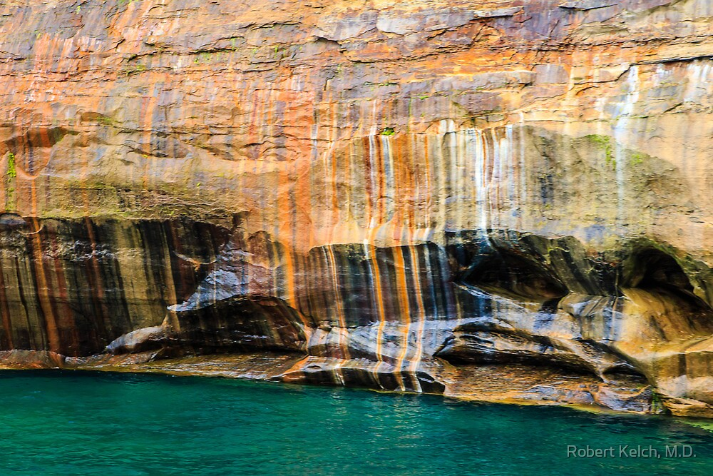 Mineral Seeps at Pictured Rocks National Lakeshore by Robert Kelch, M.D.