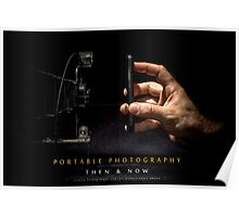 Portable Photography - Then & Now Poster
