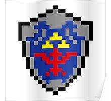 Hylian Shield 8-bit Poster