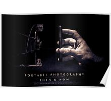Portable Photography, Then & Now Poster