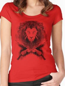 Lion Heart (black) Women's Fitted Scoop T-Shirt