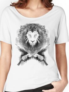 Lion Heart (black) Women's Relaxed Fit T-Shirt