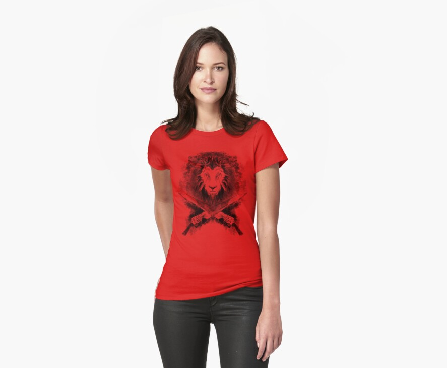Lion Heart (black) by TeeKetch