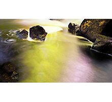 More Rocks in Swirling Waters Photographic Print