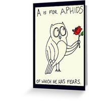 A is for Aphids Greeting Card