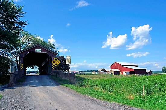 Bridge Road ...Scenic Shortcut To Northumberland County by Gene Walls