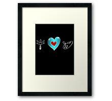 I <3 Ocarina - sketchy Framed Print