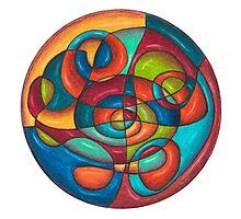 Inner Tubes Mandala - Print Photographic Print