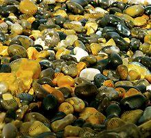 Pebbles & Stones Illuminated - Cley Beach  by jamierickman