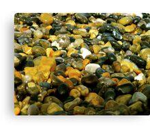 Pebbles & Stones Illuminated - Cley Beach  Canvas Print