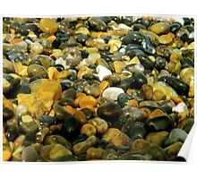 Pebbles & Stones Illuminated - Cley Beach  Poster