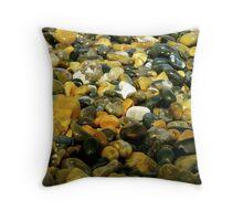 Pebbles & Stones Illuminated - Cley Beach  Throw Pillow