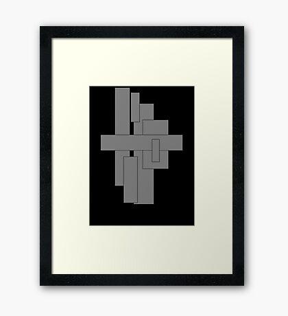 Puzzle Colour Black-Grey Framed Print