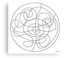Inner Tubes Mandala - Print - Color Your Own! Canvas Print