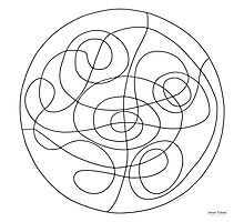 Inner Tubes Mandala - Print - Color Your Own! Photographic Print