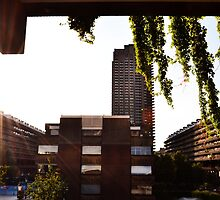 Sunset - The Barbican Centre by Jessica Reilly