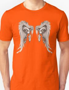 Hand Drawn Wing Illustration Unisex T-Shirt