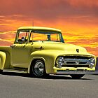 1956 Ford F100 Custom Pick-Up Truck VII by DaveKoontz