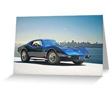 1978 Corvette 'Skyline Vette' Greeting Card