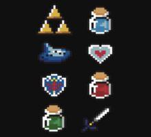 Tiny Zelda Items by Flaaffy