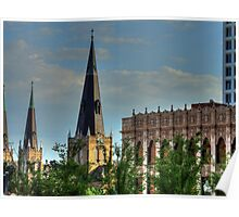 Steeples and Roof Tops Poster