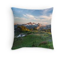 Tatoosh Range Wildflowers from Mazama Ridge Throw Pillow