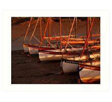 Row Of Boats, Blakeney  Art Print