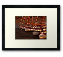 Row Of Boats, Blakeney  Framed Print