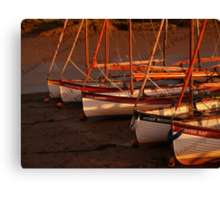 Row Of Boats, Blakeney  Canvas Print