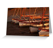 Row Of Boats, Blakeney  Greeting Card
