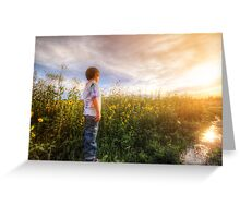 Son Flowers Greeting Card