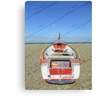 Pasted Journeys - Cley Beach  Canvas Print