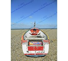 Pasted Journeys - Cley Beach  Photographic Print