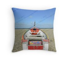 Pasted Journeys - Cley Beach  Throw Pillow