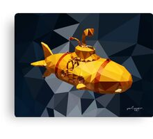 POLY : Submarine Canvas Print