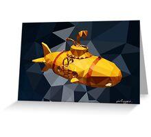 POLY : Submarine Greeting Card
