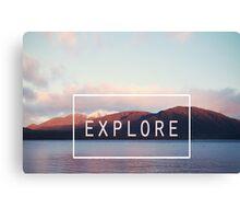 Explore. New Zealand Canvas Print