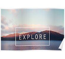 Explore. New Zealand Poster