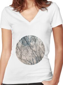 Branches Infrared Nature Women's Fitted V-Neck T-Shirt
