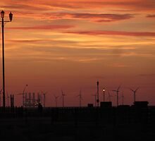 WIND FARM AND OIL PLATFORM by gothgirl