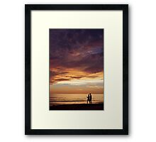 Walk Through Sunset Framed Print