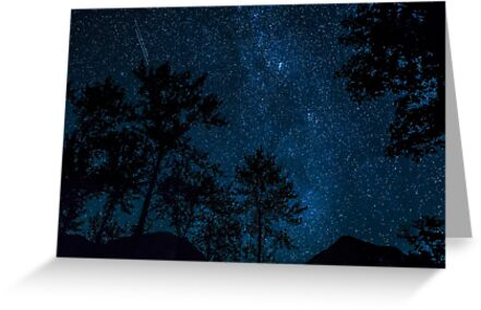 Double Meteorite on a Clear Starry Night  by Jim Stiles