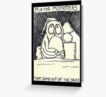 M is for Monsters Greeting Card