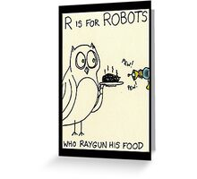 R is for Robots Greeting Card