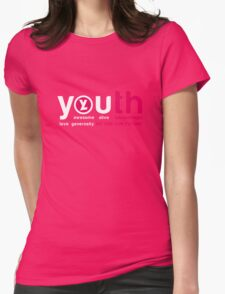 YL YOUTH. sacred magenta Womens Fitted T-Shirt