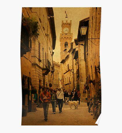 Main Street-Tuscany Poster