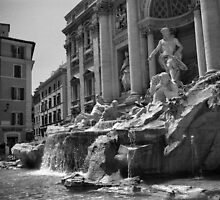 Fontana di Trevi, Rome by Rodney Johnson