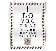 I LOVE CODA Eye Chart Poster