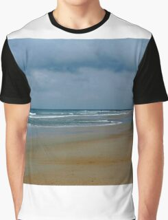 Cloudy Day At The Beach Graphic T-Shirt